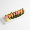 Рейнбоу ролл с диким лососем, тунцом и угрем барбекю