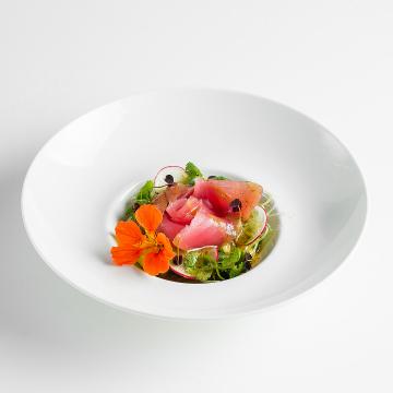 Севиче из тунца с огурцом кимчи