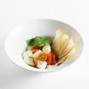 Салат с моцареллой, булгуром и соусом песто