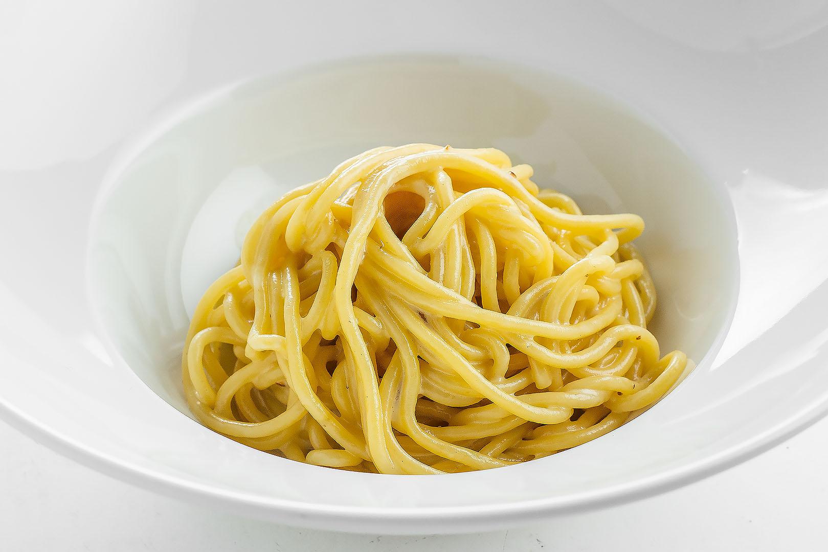 Спагетти со сливками
