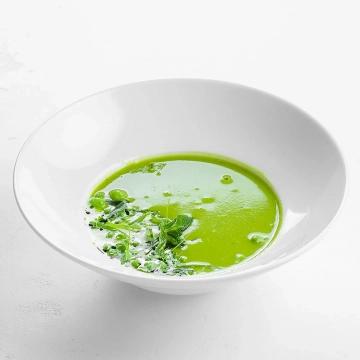 Крем-суп из молодого зеленого горошка