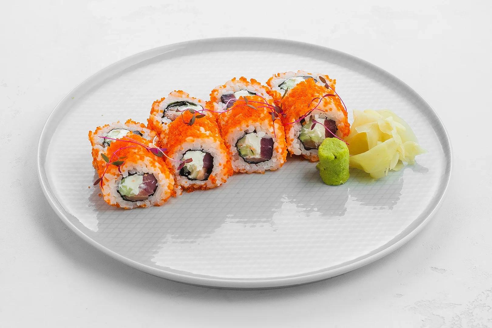 Easy ролл тунец и сливочный лосось
